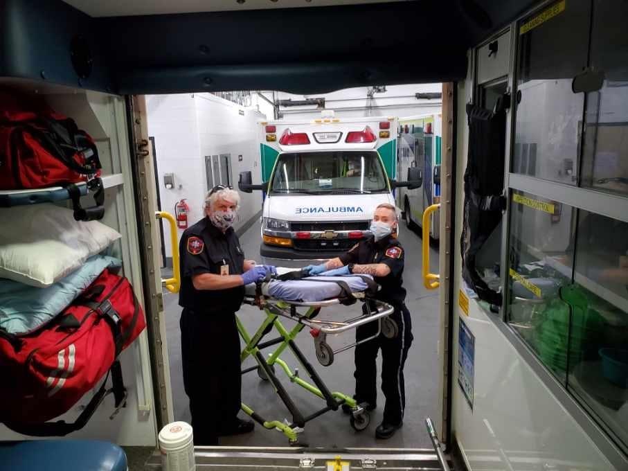 patient transfer in alberta at Foothills Medical Centre July 2020 1 min